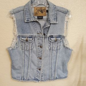 faconnable nostalgic dungarees distressed vest